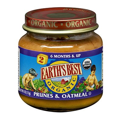 Earth'S Best Organic Baby Food Stage 2 Prunes & Oatmeal -- 4 Oz front-565434