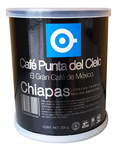 Cafe Punta del Cielo Mexican Coffee (Chiapas , Pack of 1) (Mexican Coffee compare prices)