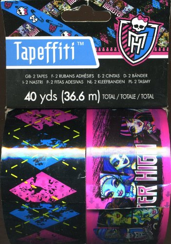 Tapeffiti - Monster High - Tape - 2 in X 20 yds (2-Pack) (40 yds Total) - 1