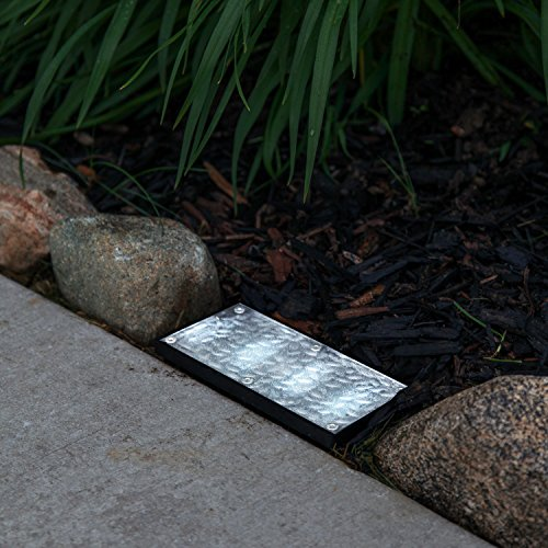 """Solar 4"""" X 8"""" Recessed Paver Landscape Light - With 12 Cool White Leds"""