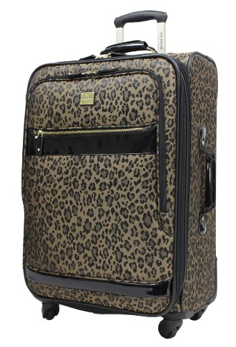 Ricardo Beverly Hills Luggage Savannah 24 Inch Two Compartment Upright Bag, Golden Leopard, Large reviews