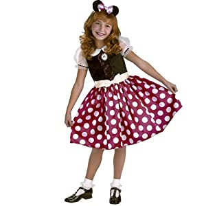 Minnie Mouse Classic Costume Size: 10-12 Plus