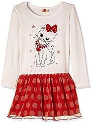 UFO Girls' Dress (AW16-KF-GK-331_White_8 - 9 years)