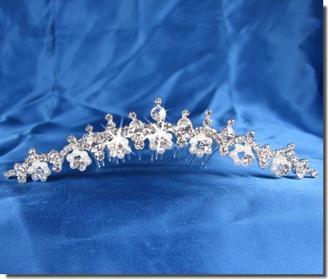 bridal headpieces With Crystal Flowers 23714