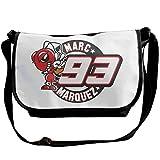 ショルダーバッグ マルク・マルケス MotoGP バイク王 男女兼用 アウトドアバッグ 肩掛け 斜めがけ ポリエステル 軽量 通勤 アウトドア Black One Size