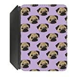 Pug Life Design iPad Mini PU Leather Flip Case Cover Designed by Katie Reed