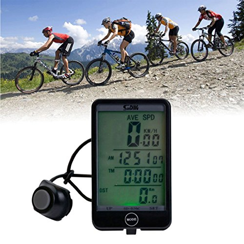 Alle-Neuen-xpressbuyer-Multifunktions-Groen-Bildschirm-LCD-Wireless-Fahrrad-Computer-Bike-Computer-digitale-Stoppuhr-Tacho-Kilometerzhler-Bike-cyclometers