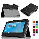 "Fintie Premium PU Leather Case Cover for 7"" Android Tablet inclu. Chromo 7"" Tablet, Dragon Touch 7"" Y88X / Y88, A13 Q88, ProntoTec Axius Series Q9 / Q9S 7 Inch Android 4.4 Tablet PC, ProntoTec 7"" Android 4.4 KitKat Tablet PC, Alldaymall® A88X 7'', NeuTab® N7/ N7 Pro 7'', iRulu 7 inch Android Tablet PC, Tagital T7X 7"", Yuntab7"" Q88 Allwinner A23 Capacitive Android 4.4 Tablet PC, KingPad K70 7'', FONESO Ultrathin 7"", DeerBrook® 7"" A23, Condroid X7, Condroid ® 7'' GMS, Osgar Ultrathin 7 inch 16GB Tablet PC (Front Camera Opening Only) - Black"
