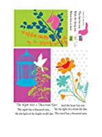 Ambience Live Vinilo Decorativo Graphic flower and bird decal Multicolor