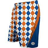 Flow Society Orange and Royal Argyle Performance Shorts