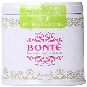 Bonte Confiserie Hard Candy Exquisite Collection, Strawberry and Basil with Mini Tin Box