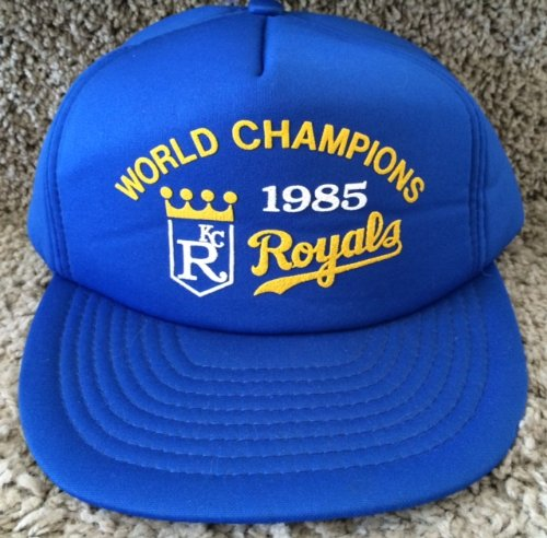 Vintage 1985 Kansas City Royals World Champions Snap Back Hat at Amazon.com
