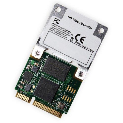 Broadcom Crystal HD 970015 - Scheda acceleratrice Mini PCI-Express per la riproduzione di contenuti multimediali ad alta risoluzione (HD a 1080p, standard di compressione H.264/AVC e VC-1/), installazione in slot Mini PCI-Express