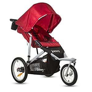 Joovy Zoom 360 Swivel Wheel Jogging Stroller Red