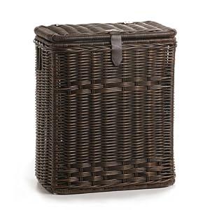 The Basket Lady Rectangular Trash Basket with Metal Liner
