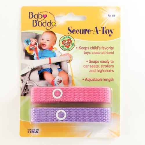 Imagen de Baby Buddy Secure-A-Toy, rosa / lila