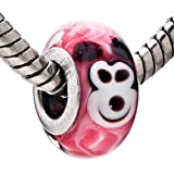 Pugster Mouse Like Mickey Murano Glass Charm Bead Fit Pandora Chamilia Charms