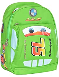 GOURibags Polyester 10 Liters Green Car Shape School Bag Bag For Kids /Tuition Bag For Boys/Classess Bag For Kids...