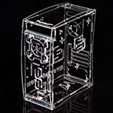 MYOPENPC CRYSTAL edge Clear and Transparent Acrylic Mini Tower Computer Case for mATX Form Factor - PC components not included