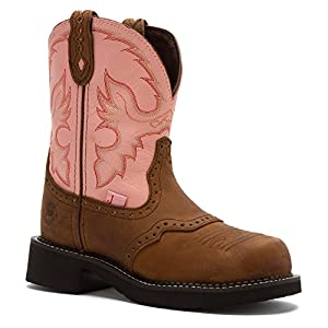 Justin Work Boot Womens Gypsy Steel Toe 5 B Bay Apache Pink WKL9981