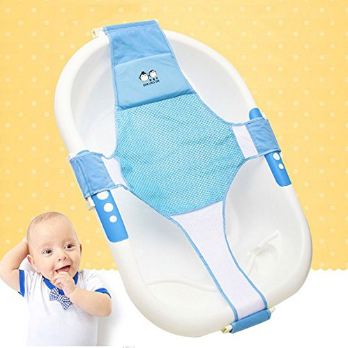 the wolf moon newborn baby bath seat support net bathtub sling shower mesh bathing cradle rings. Black Bedroom Furniture Sets. Home Design Ideas