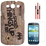 DMG Night Glow Hard Back Cover Case For Samsung Galaxy S3 Neo GT-I9300I (Bacardi) + AUX Cable + Matte Screen