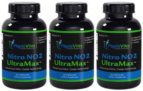 Nitro No Ultramax Nitric Oxide Muscle Builder Arginine Akg Physiovites Nitric Oxide Nitro No Ultramax 270 Capsules 3 Bottles
