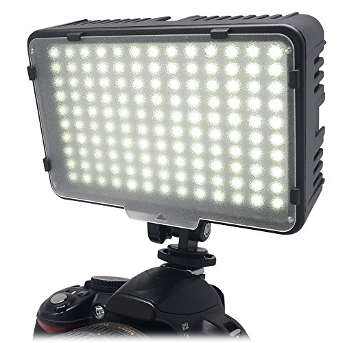 Mcoplus® 130 LED dimmerabile Ultra High Power pannello digitale fotocamera / videocamera Video luce, LED Light per fotocamere reflex digitali Canon, Nikon, Pentax, Panasonic, Sony, Samsung e Olympus