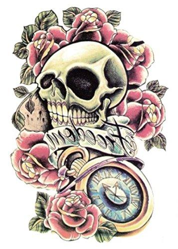 arte-corporal-pegatinas-tatuaje-removibles-temporales-calavera-pegatina-tatuaje-modavida-fashionlife