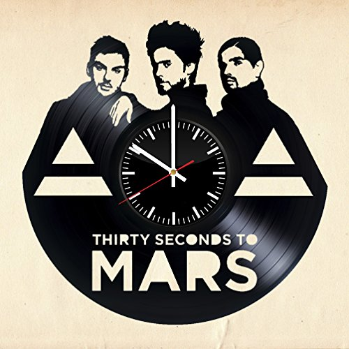 30-Seconds-to-Mars-Vinyl-Record-Wall-Clock-Get-unique-living-room-wall-dcor-Gift-ideas-for-teen-girls-and-boys-women-Unique-music-art-design-Leave-us-a-feedback-and-win-your-custom-clock