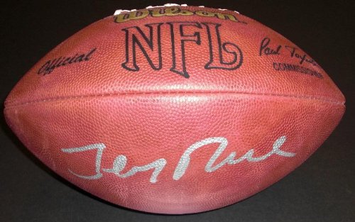 Jerry Rice Autographed / Hand Signed NFL Game Model Football - San Francisco 49ers