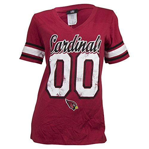 Women's NFL Vintage Jersey Look T-Shirt (Arizona Cardinals Red, Small)