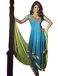 Prafful Faux Georgette Anarkali Priyanka Chopra Salwar-suit - B00LVWHZ6I