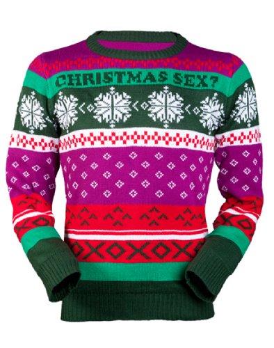 Jingleballz Men's Christmas Sex? Sweater -XL multicolored