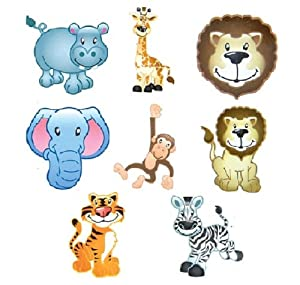 ~ 144 ~ Zoo / Jungle Animal Tattoos (Temp) ~ NEW