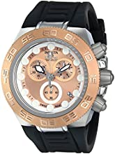 Invicta Subaqua Men's Quartz Watch with Brown Dial  Chronograph display on Black Silicone Strap 15576