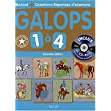 Galops 1  4 : Manuel + Questions/rponses d&#39;examens (1Cdrom)par Vigot Editions