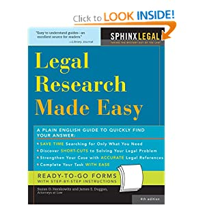 Legal Research Made Easy, 4E Suzan Herskowitz Singer