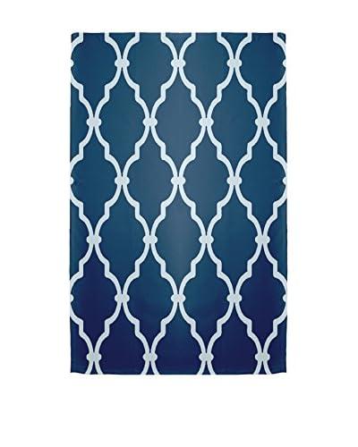 e by design Palace Rug, Blue/Ivory