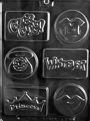 COOL KIDS SOAP MOLD Kids Candy Mold Chocolate