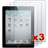 Apple iPad 2 - 3 Premium Clear LCD Screen Protector Cover Guard Shield Films