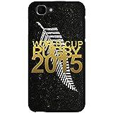 Coque noire pour Wiko Kite impression motif logo rugby doré et drapeau des All Blacks...