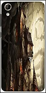 Snoogg Haunted Mansion 2691 Designer Protective Back Case Cover For HTC Desire 728