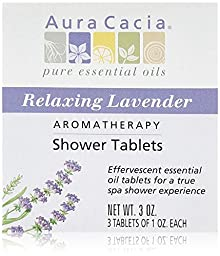 Aura Cacia Shower Tablet Relaxing Lavender 3 oz., (Pack of 3)