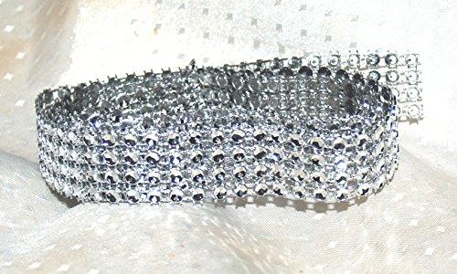 Ruban pour décoration de gâteau à 4 rangées de strass en acrylique 182 cm