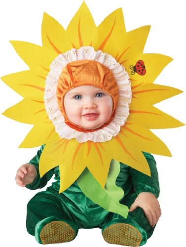 InCharacter Costumes Baby's Silly Sunflower Costume, Green/Yellow, Small (6-12 Months)