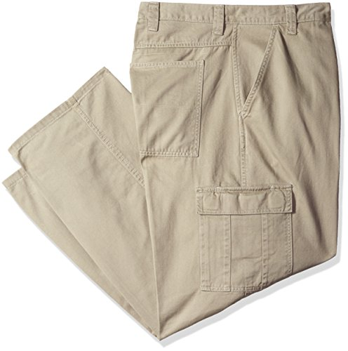 Wrangler Men's Big-Tall Authentics Classic Cargo Pant, British Khaki Twill, 50x30 (Big Men Casual Pants compare prices)