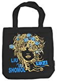 Black Canvas Tote Bag for Women
