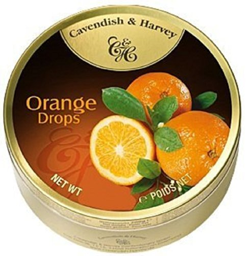 Cavendish And Harvey Candy (3 Pack) Fruit Hard Candy Tin 5.3 Ounces Imported German Candy (Orange Drops) (Fruit Drops Hard Candy compare prices)