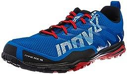 Inov-8 Men\'s Trailroc R 255 Trail Running Shoe,Blue/Black/Red,9.5 W US